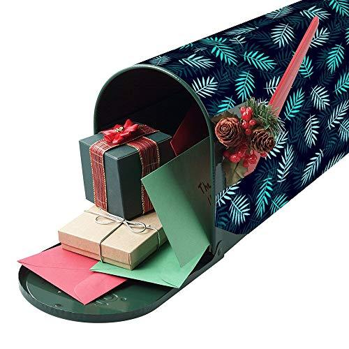 happygoluck1y Gelukkig Pasen Grappig Bunny En Ei mailbox Cover Magnetische mailbox Wrap Cover Seizoensgebonden Home Yard Garden Decor Post Brievenbus Cover voor buiten,