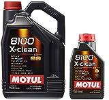 MOTUL 8100 X-Clean Acea C3 5W-40 Aceite de motor de coche totalmente sintético - Service Pack: 6 litros
