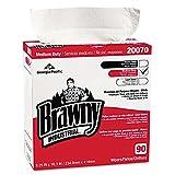 Brawny Industrial Medium-Duty Premium Wipes, 9 1/4 x 16 3/8, White, 90/Box, 10/Carton