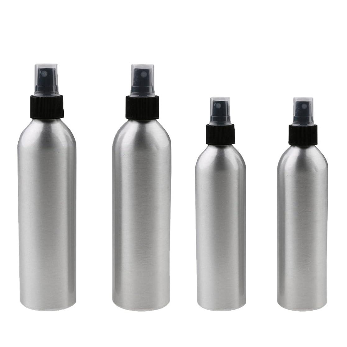 アルカイック大胆な大量Kesoto 4本入り スプレーボトル 100mlと150ml各2本 アルミミスト スプレー 香水 ボトル スプレーアトマイザー