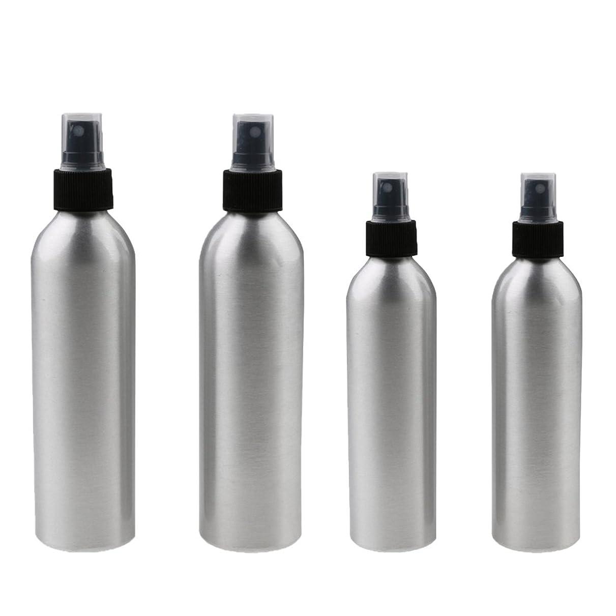 強調ふつう今日Kesoto 4本入り スプレーボトル 100mlと150ml各2本 アルミミスト スプレー 香水 ボトル スプレーアトマイザー