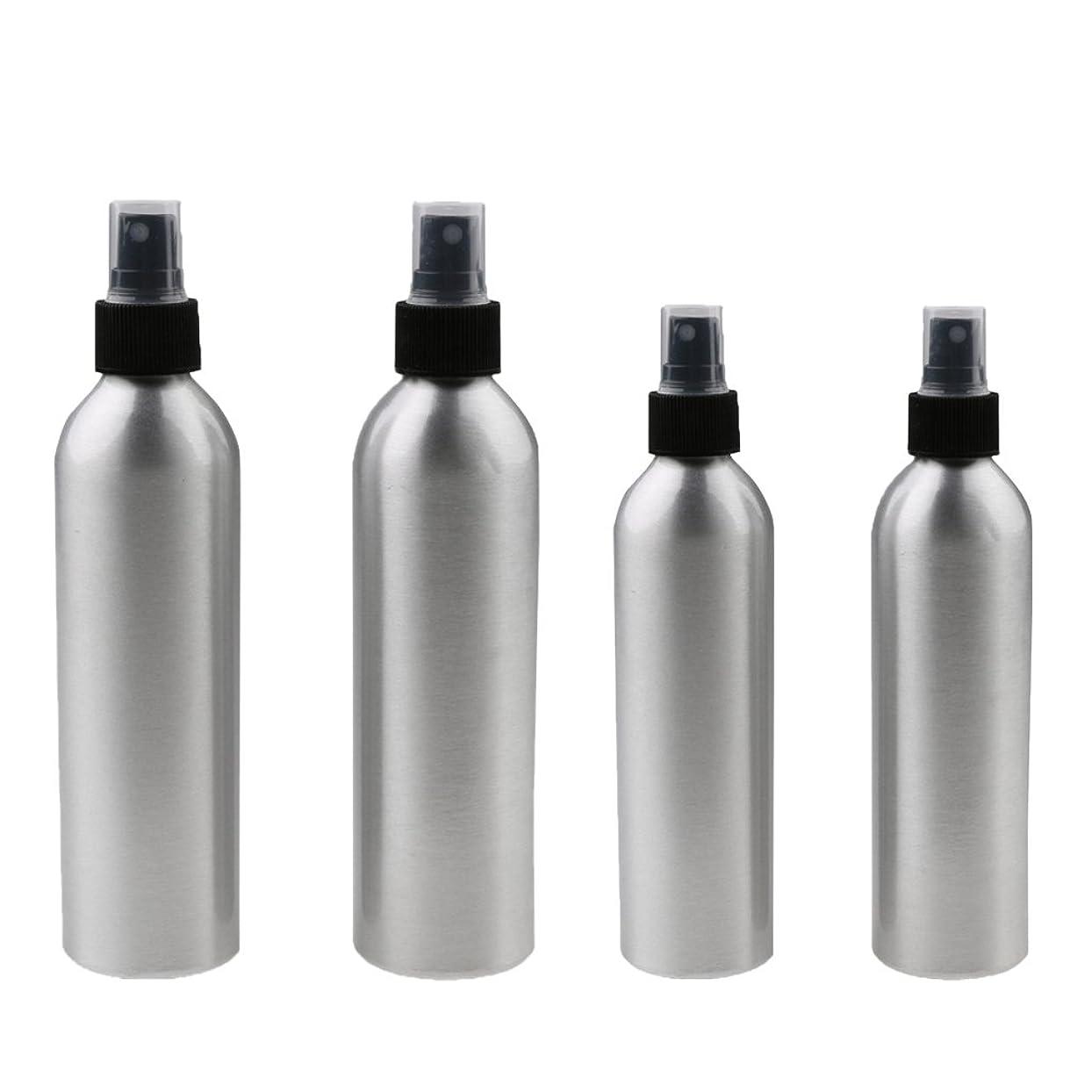 内陸エイリアス逆にKesoto 4本入り スプレーボトル 100mlと150ml各2本 アルミミスト スプレー 香水 ボトル スプレーアトマイザー