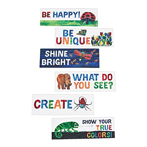 Fun Express - Eric Carle Motivational Bookmark Assortm - Stationery - Bookmarks - Bookmarks - 36 Pieces