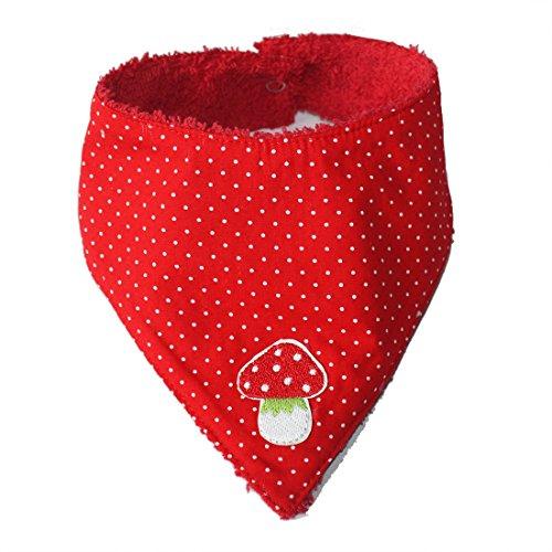 FARBGEWITTER Baby Mädchen Halstuch Sabber-Tuch FLIEGENPILZ in rot