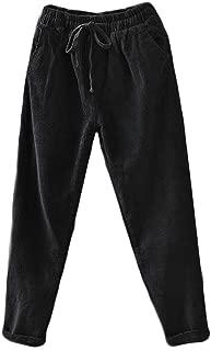 Mallimoda Donna Pantaloni A Righe Sciolto Lanterna Harem Pantaloni Pants