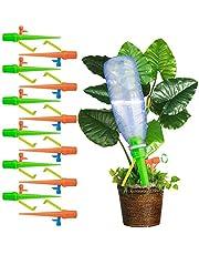 12 قطعة من اجهزة الري بالتنقيط قابلة للتعديل من باسونغ، راس مدبب وعبوة مياه بلاستيكية وبرغي صمام للتحكم بالتنقيط البطيء، تستخدم للسقاية الذاتية للنباتات في الداخل والهواء الطلق واصص الزهور والخضروات
