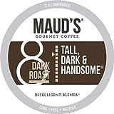 Maud's Dark Roast Coffee (Tall Dark & Handsome), 100ct. Solar Energy Produced Recyclable Single Serve Dark Roast Coffee Pods – 100% Arabica Coffee California Roasted, KCup Compatible