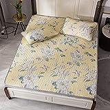 Sommerschlafmatte Bettwäsche Tencel Modal Washed Latex Matte Dreiteiliges Dickes Faltbares Naturlatex-Mattenset Klimaanlage Gepolsterte Tagesdecke A 1.5M