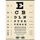 Cavallini Papers & Co - Papier cadeau tableau optométrique en anglais...