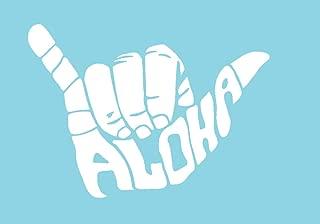 CCI Shaka Aloha Hang Loose Decal Vinyl Sticker|Cars Trucks Vans Walls Laptop| White |5.5 x 4 in|CCI957