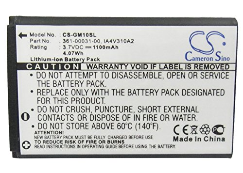 CS-GM10SL Batería 1100mAh Compatible con [XPLOVA] G3, [Garmin] GPS Mobile 10, GPS Mobile 10x, GPS10 sustituye 010-10840-00, 361-00030-00, 361-00031-00, IA4V310A2