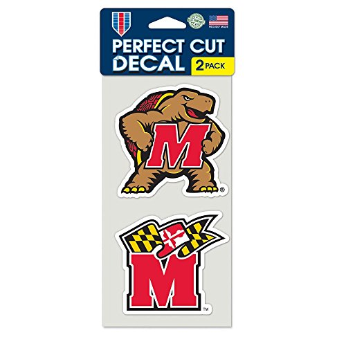 """Wincraft NCAA University of Maryland Perfect Cut Decal (Set of 2), 4"""" x 4"""" - 62855011"""