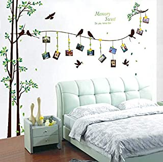 Large size flying birds photo frame tree wall stickers home decor diy removable bedroom living room wall decal art-XSQ