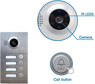 NA Home WiFi IP Video Door Phone Intercom System Video Doorbell 7'' Pantalla táctil para 4 pisos Apartamento/8 zona de alarma