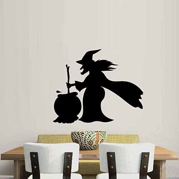 CQMYG Halloween Decoration Party Supplies Window Stickers Wall Stickers Witches And Cauldrons Weird People Halloween
