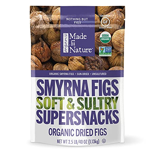 Made in Nature Organic Dried Fruit, Turkish Smyrna Figs, 40oz Bag – Non-GMO, Unsulfured Vegan Snack