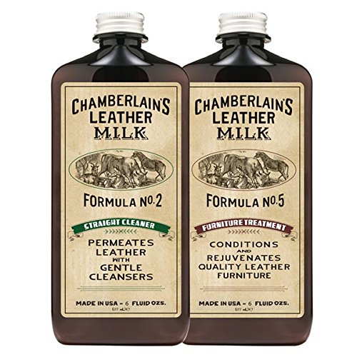 Chamberlains Leather Milk Chamberlain s Clean and Condition Leather Furniture Care Set 12OZ