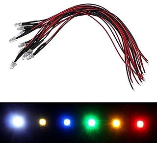 10x Superhelle LEDs 5mm Kalt Weiß 6000K für 5V 20cm Kabel 10000…15000mcd 45°