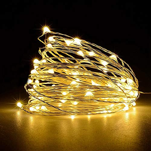 Tabanlly 1M 5M 10M Alambre de cobre LED Luces de cadena Iluminación navideña Guirnalda de hadas para el árbol de Navidad Decoración del banquete de boda