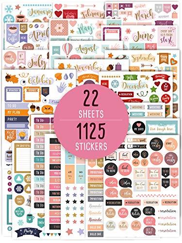 Wunderschöne Monatsplaner-Aufkleber – 1150 + atemberaubendes Design Zubehör verbessern und vereinfachen Sie Ihren Planer, Tagebuch und Kalender
