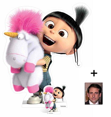 Fan Pack - Agnes and Fluffy Unicorn Despicable Me 3 / Ich Einfach unverbesserlic 3 Minions Lebensgrosse und klein Pappaufsteller - mit 25cm x 20cm Foto