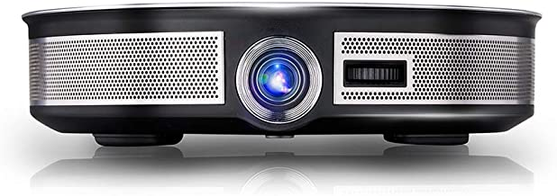 Asixx LED Mini Projector, 3500lumen 300 inch Projector 4K Android 6.0 WiFi Portable 3D LED Mini Projector Support Wireless Co-Screen and OpenGL ES 1.1/2.0/3.1, OpenCL, DirectX9.3(US Plug)