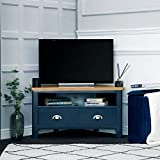 The Furniture Outlet Rutland Blue Painted Oak Corner TV Unit