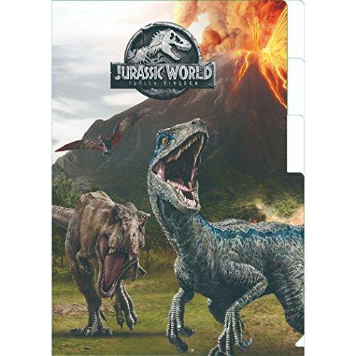 インロック ジュラシックワールド 炎の王国[ファイル]3ポケットA4クリアファイル恐竜 IG-2587