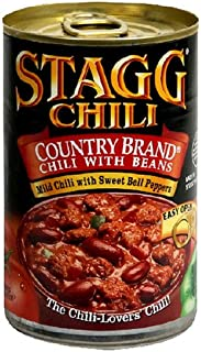 Stagg Chili, Country Brand with Beans, 15 oz