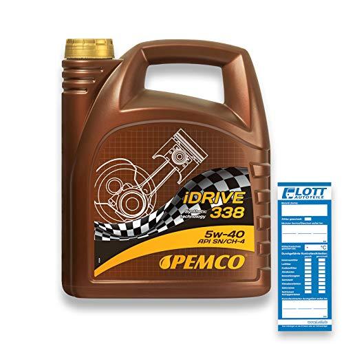 Aceite 5w40 Pemco Lubricante De Motor Para Coche Universal Sintético API SN SM CF 5 liter