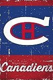 Montreal Canadiens? - Retro Logo 13 Poster Drucken (86,36 x