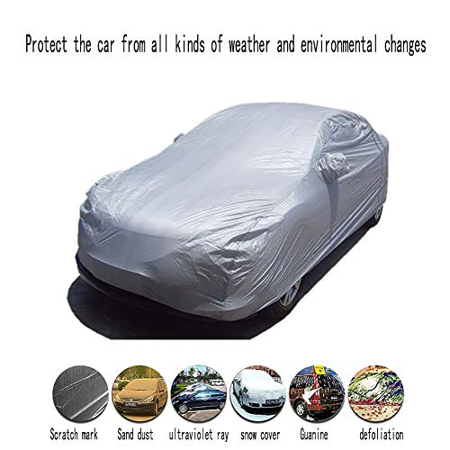 z-snowman Car Cover Waterproof All Weather for Automobiles, Universal Fit for Sedan (Suitable for 193~204 inches)
