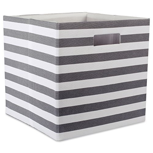 DII Foldable Fabric Storage Container for Nurseries Offices Closets Home Décor Cube Organizer Everyday Use 13 x 13 x 13 Chevron Gray LargeCAMZ37946