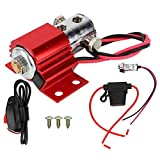 Hlyjoon Brake Line Lock 12-16V Roll Control Brake Line Park Lock Kit Stainless Steel Solenoid Lock Electric Set with Hill Holder Accessory Red