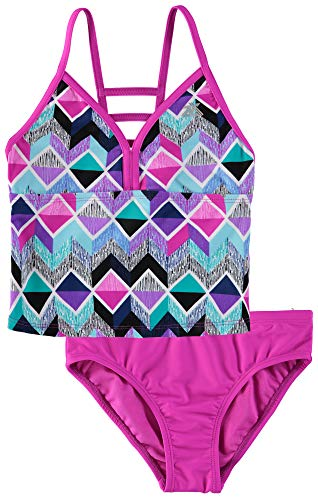 ZeroXposur Girls Two Piece Beach Swimsuit Bathing Suit Set Aurora S-6/6X