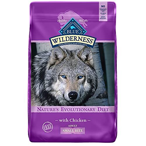 Blue Buffalo Wilderness High Protein, Natural Adult Small-Bite Dry Dog Food, Chicken 24-lb
