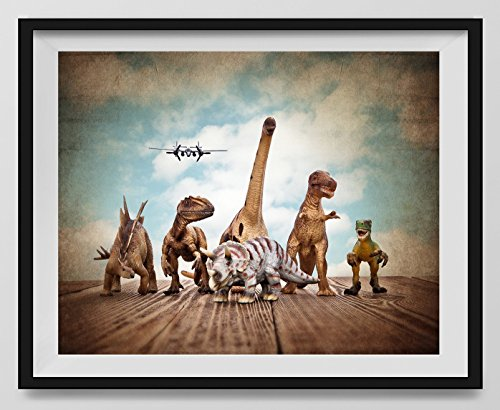 "Dinosaur Wall Art for kids rooms,""Dinos on the Run"",Boys room Wall art, Photo Decor, Dinosaur room, Nursery decor, Kids Room Wall Art."