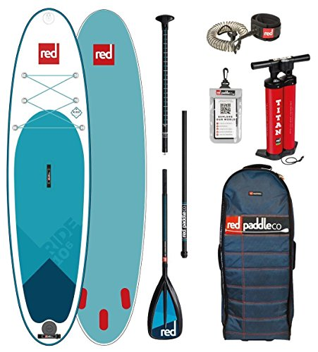 Red Paddle Co - SUP Stand Up Paddle Boarding - Aufblasbares Stand Up Paddle Board Ride 10';6 + Tasche, Pumpe, Paddel & Leine/Gurt