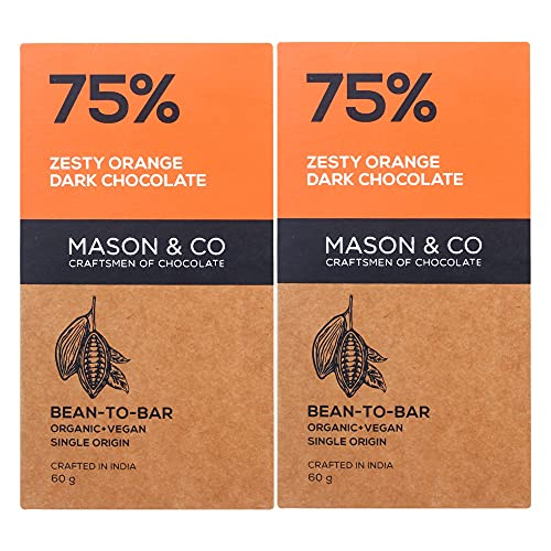 Mason & Co. 75% Zesty Orange Dark Organic Exotic...