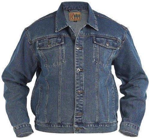 """Duke Western Style Camionneur Jeans Veste en Black Blue Poitrine Taille S à XL - Bleu, Bleu, XL/42-43"""""""