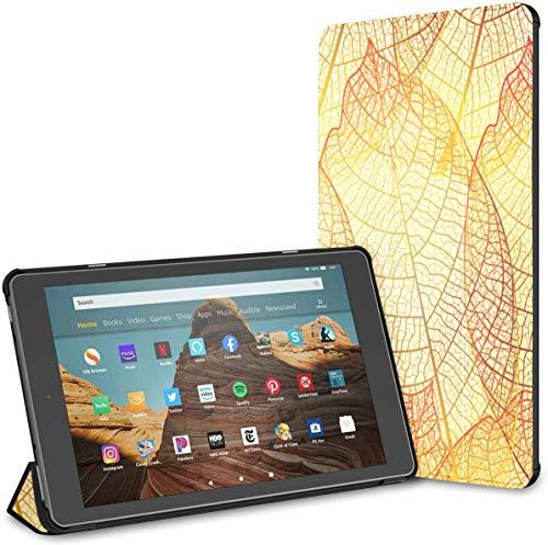 Estuche para Tableta Gold Leaf Autumn Leaves Fire HD 10 (9.a / 7.a generación, versión 2019/2017) Estuche para Tableta Fire HD 10 A Estuche para Kindle Auto Wake/Sleep para Tableta de 10.1