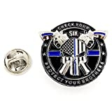 Police Pin - Skull Thin Blue Line Thin Blue Line Blue Lives Matter Law Enforcement Officers Police NYPD Pin (1)