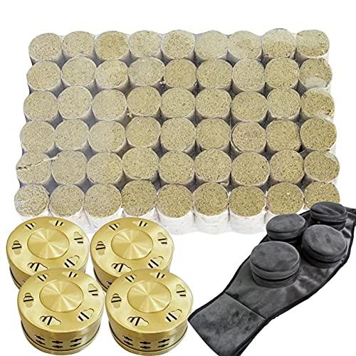 Bias&Belief Moxibustion Moxa Sticks Rollos de Ajenjo Mugwort Sin Humo Moxa Rolls Moxa Hecho A Mano 54 Piezas 40 : 1 Moxa Sticks con Caja de Moxibustión Y Bolsa de Moxibustión C