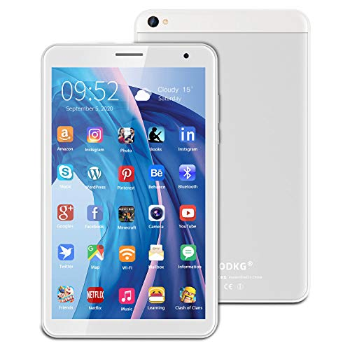 Android 10 Tablets 8 inch Tablet PC 3GB RAM+32GB ROM/128GB,5MP Rear Camera,Quad-Core Processor,5000mAh long battery life,Wifi,Google Play(silver)