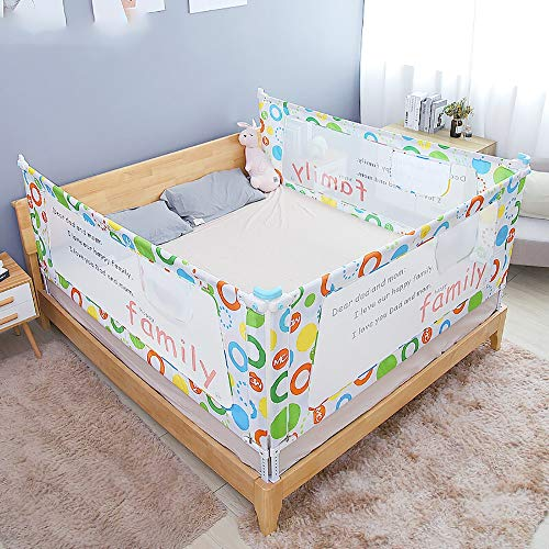 Find Discount Sunsamy Child Bed Fence Bed Fence Bed Guardrail Crib Baffle Baby Anti-Fall Fence Large...