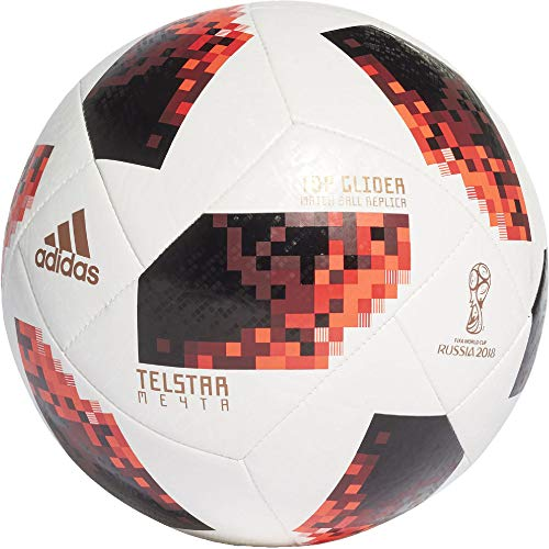 adidas Herren FIFA Fussball-Weltmeisterschaft Knockout Top Glider Ball, White/Solred/Black, 4