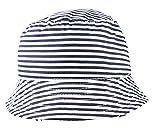 Glamour Girlz - Berretto estivo a righe blu navy per bambini, cappello da sole (3-6 mesi)