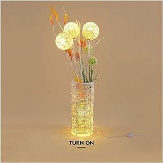 Lampe sur pied Décoration de vacances Lampadaires Sofa Lampe LED Hôtel Home Salon vertical Chambre main en rotin tissé Lam...