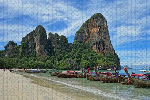 1000 piezas-Rompecabezas para adultos Tailandia Railay Beach Krabi Puzzle Travel Souvenir