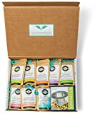 Birds & Bees Teas - Pregnancy Tea Organic Sampler Set, Perfect Pregnancy Gift for Women and Pregnant Mom Gift for First Time Moms or Pregnancy Announcement Gift - 9 Teas with 5 Servings Each.